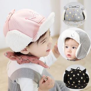 冷冬大 QQ 熊小舖皇冠星星兒童加絨護耳毛帽護耳帽護耳包頭帽保暖帽 護耳毛帽子加絨毛帽套頭