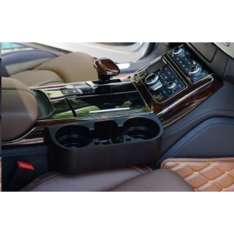 MARK 私房倉庫加大 版車用前後座縫隙置杯架手機架置物盒USB 充電線孔任何車種都 BE
