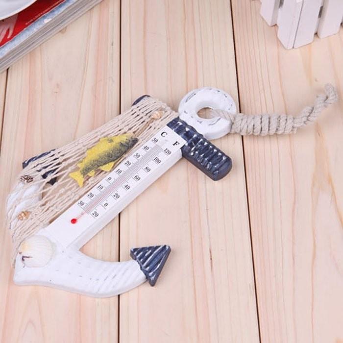 WQ 122 海洋風溫度計溫度計木製溫度計壁掛式溫度計裝飾開店裝潢Zakka 擺飾婚禮佈置