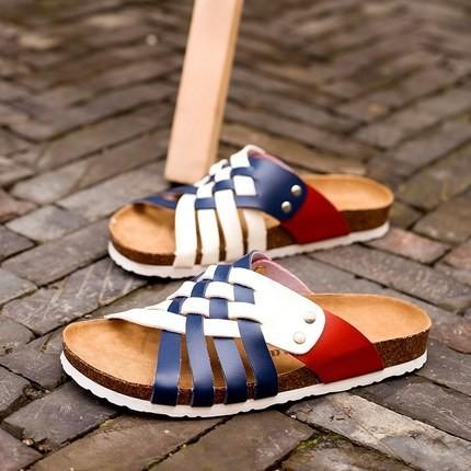 男士軟木拖鞋男女情侶防滑 人字拖男沙灘鞋休閒透氣涼鞋男