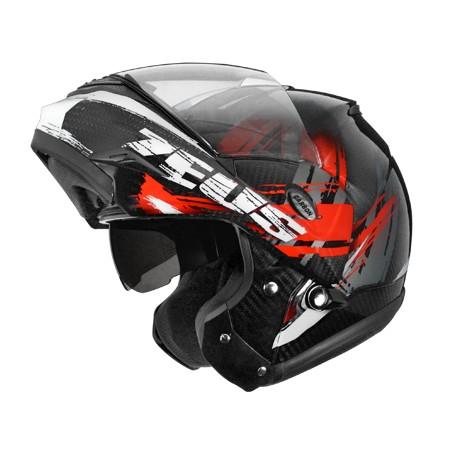 ZS 3500 透明碳纖YY4 紅亞洲第一頂全碳纖維可掀式安全帽