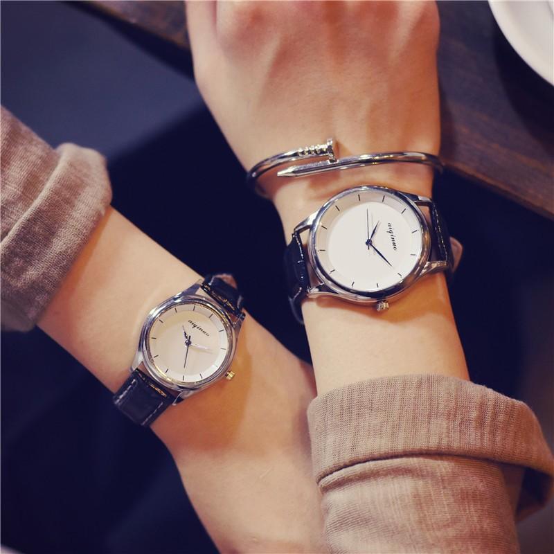 獨一無二๑專營店๑韓國手錶女學生 復古簡約潮男錶皮帶 情侶表石英錶