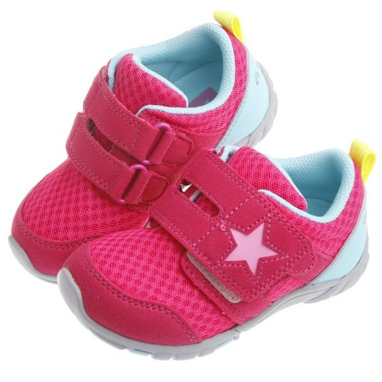 ~51 童鞋~Moonstar 桃蜜星星透氣止滑 機能鞋15 21 公分