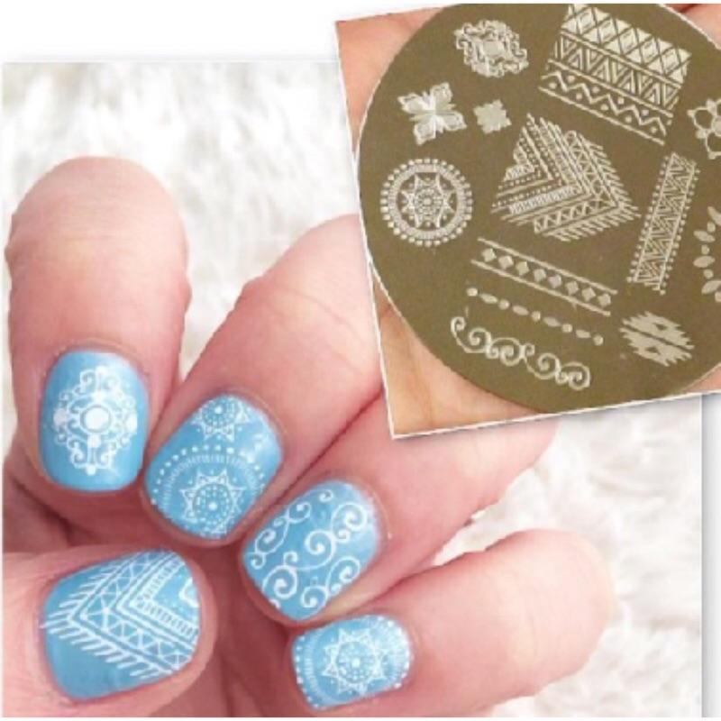 [ ]Nail St 指甲彩繪壓花轉印鋼板可重複 非美甲貼紙轉印工具組