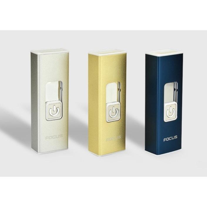焦點電弧打火機USB 充電打火機金屬防風 超薄個真金電鍍電磁脈衝電弧打火機防風打火機USB