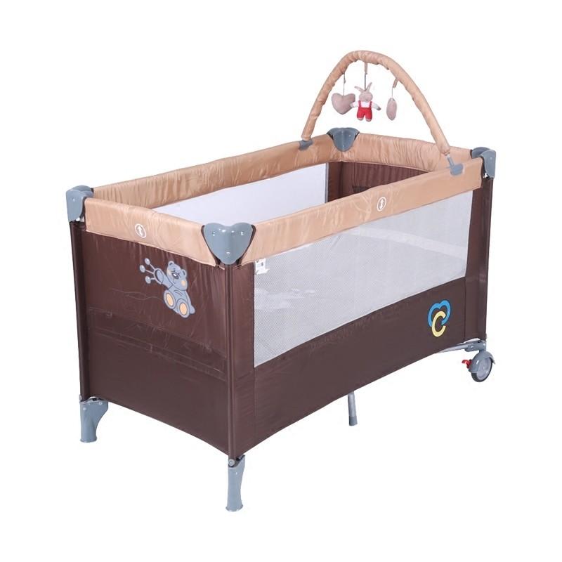 嬰幼兒多 帶滾輪游戲床兒童寶寶雙層上下層可折疊搖床嬰兒床igo