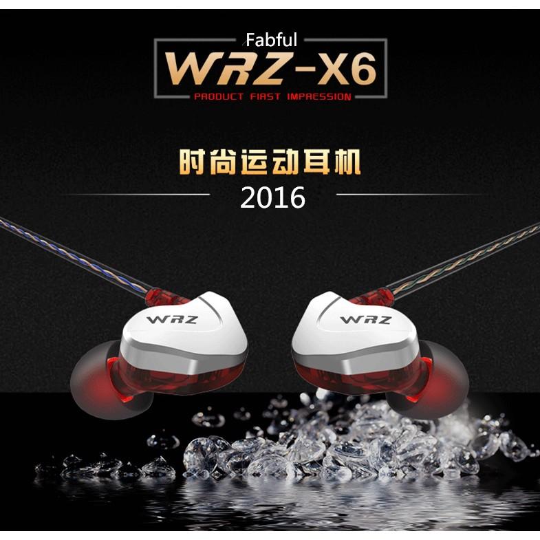 Fabful WRZ X6 手機蘋果耳機入耳式 重低音掛耳 線控耳塞麥