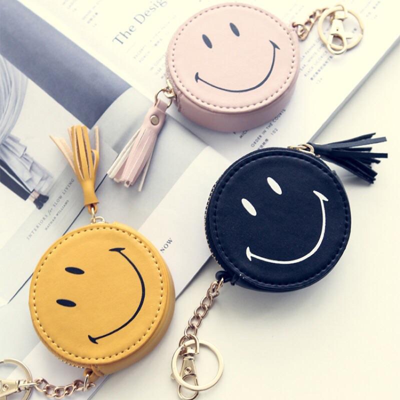 笑臉零錢包微笑零錢包流蘇零錢包鑰匙包小包包鑰匙圈