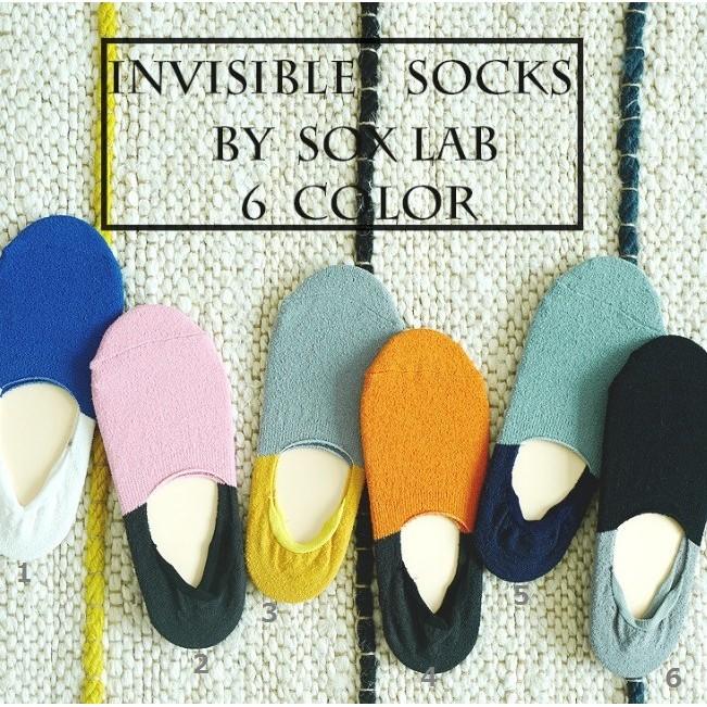 AJKE ~M080 ~SOX LAB 新品襪圈圈紗對比純棉男隱形襪矽膠防滑四季 舒適好穿