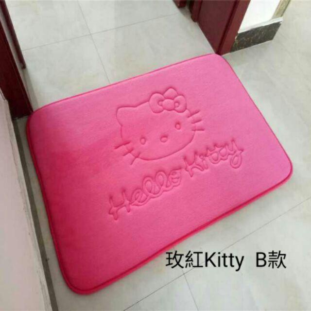 ~天天 ~加厚吸水防滑客廳地墊臥室地毯衛浴純色kitty 地墊XU 98