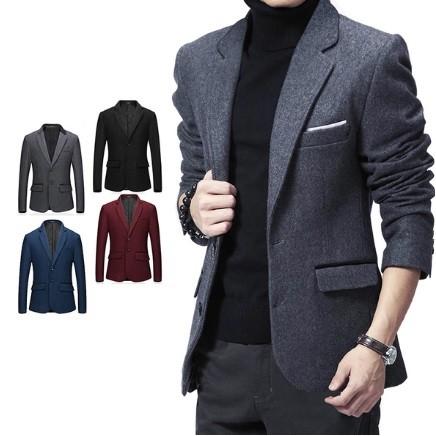 男士 西服英倫 修身小西裝羊毛呢商務西裝外套男裝