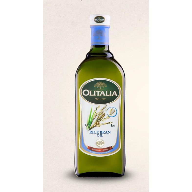 義大利 原罐 ,Olitalia 奧利塔玄米油1000ml 瓶,附 ,超取一次最多三瓶