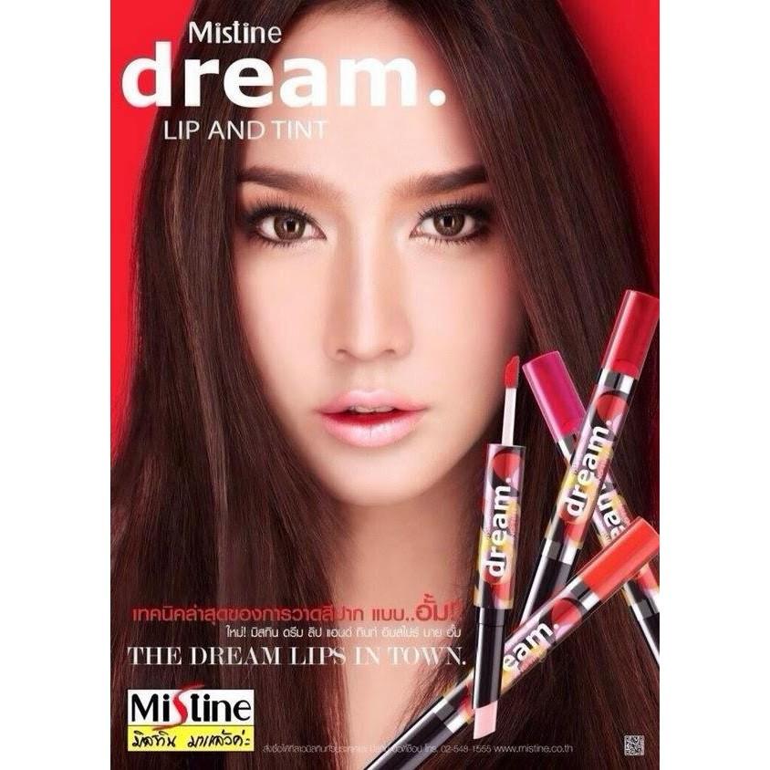 泰國Mistine dream 不脫色咬唇妝染唇液唇彩粉紅橘色紅色