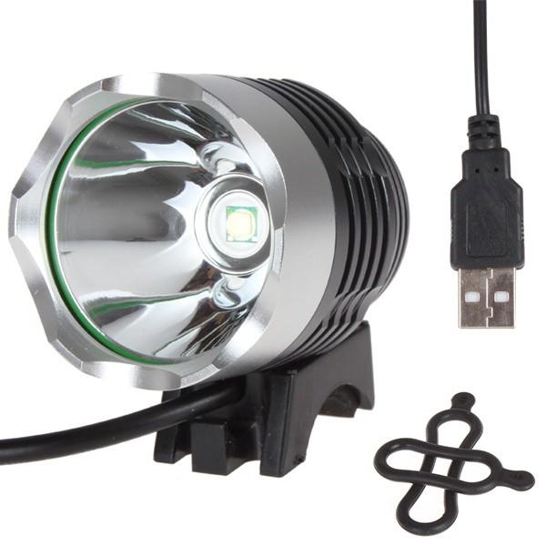 USB powerd 800LM 10W LED 自行車頭燈,3 種模式