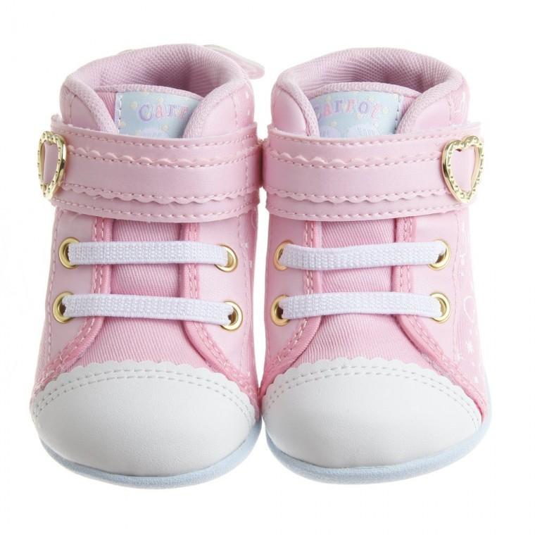Moonstar Carrot 粉色天使小翅膀寶寶機能學步鞋12 5 14 5cm