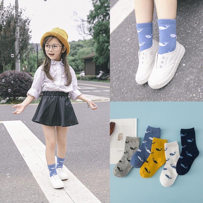 男童女童兒童小童大童可愛圖案印花短襪襪子笑臉鯨魚條紋足球