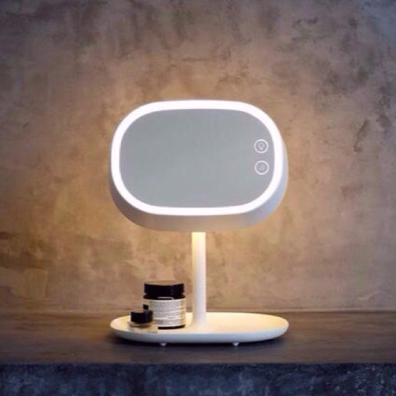 LED 觸控式無線化妝鏡帶燈鏡化妝台、床頭櫃小夜燈