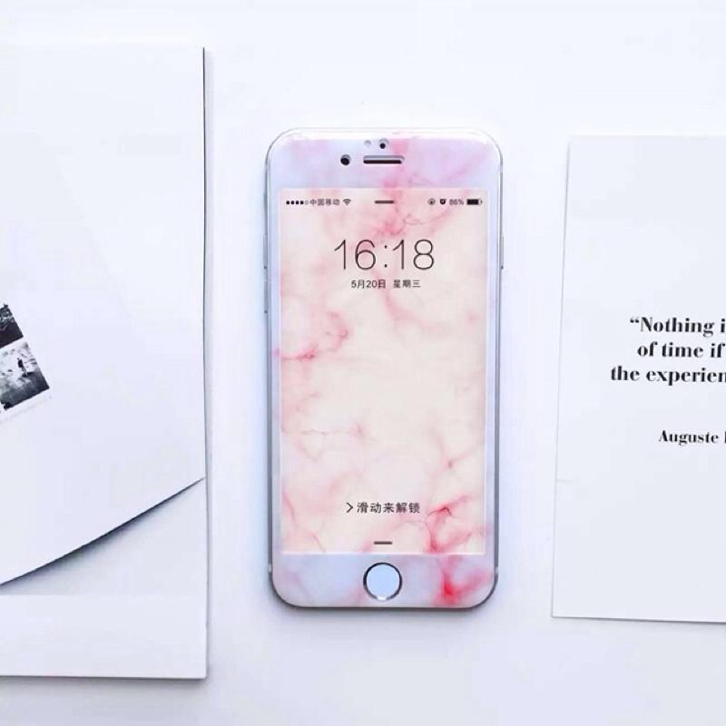 iphone6s 大理石全覆蓋鋼化玻璃膜4 7 膜5 5 螢幕膜iphone7 4 7 5
