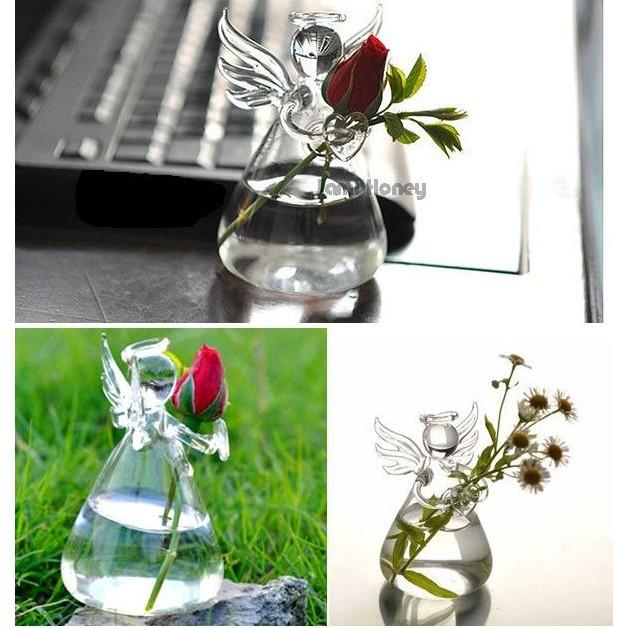 Niya 幸福手作小天使玻璃空瓶花瓶畢業 氣候瓶氣象球DIY 手作材料療鬱天使生日 情人節