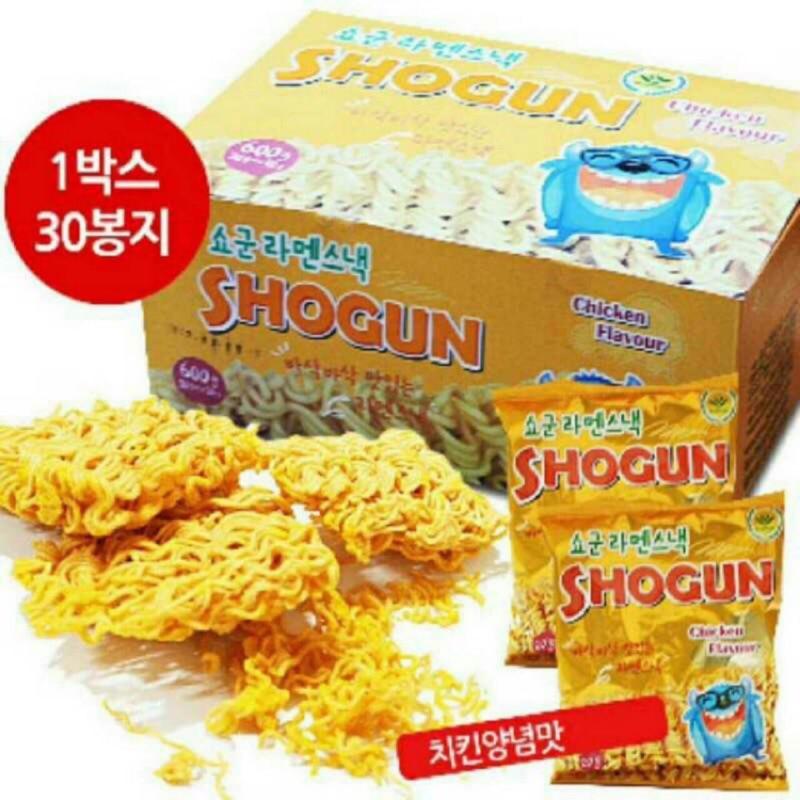 衝  中韓國Shogun 咔滋怪獸麵點心麵起司脆麵30 包盒