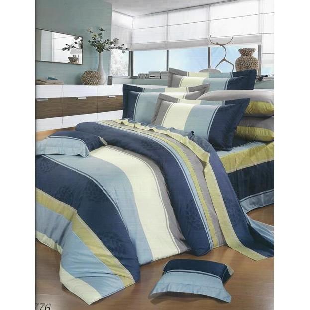 jimmy 寢具小舖~9776 藍100 精梳棉雙人床包組~MIT 尺寸可訂做