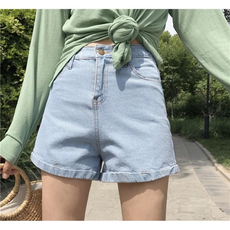 〖 韓系牛仔短褲〗 實拍 牛仔褲 熱褲愛心毛須口袋短褲