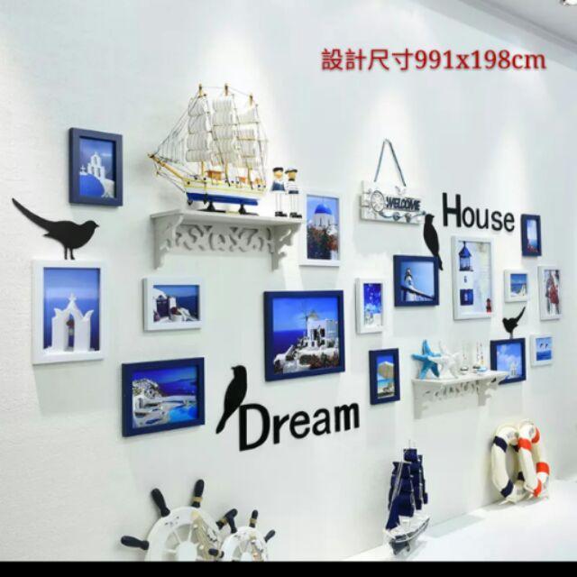樓梯相片牆客廳掛飾壁飾照片牆居家家飾客廳 15 組相框