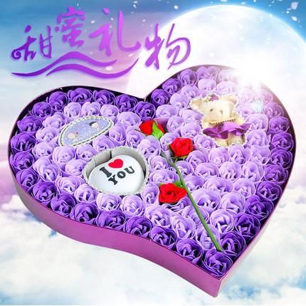 新年元旦节创意生日礼物女生送女友闺蜜老婆香皂花特别浪漫女朋友