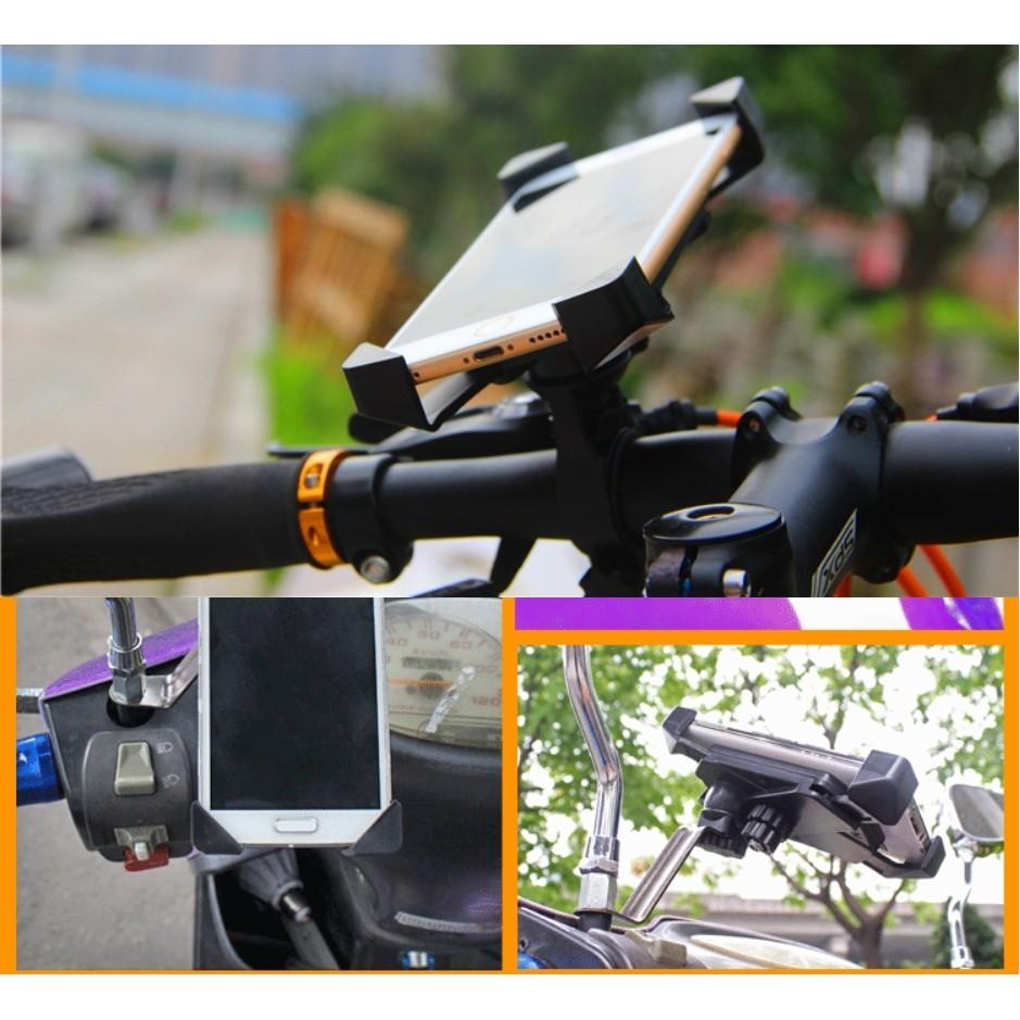 咕姑小舖 價抓寶可夢神器機車手機架腳踏車自行車手機支架導航支架摩托車手機夾鷹爪支架神奇寶貝