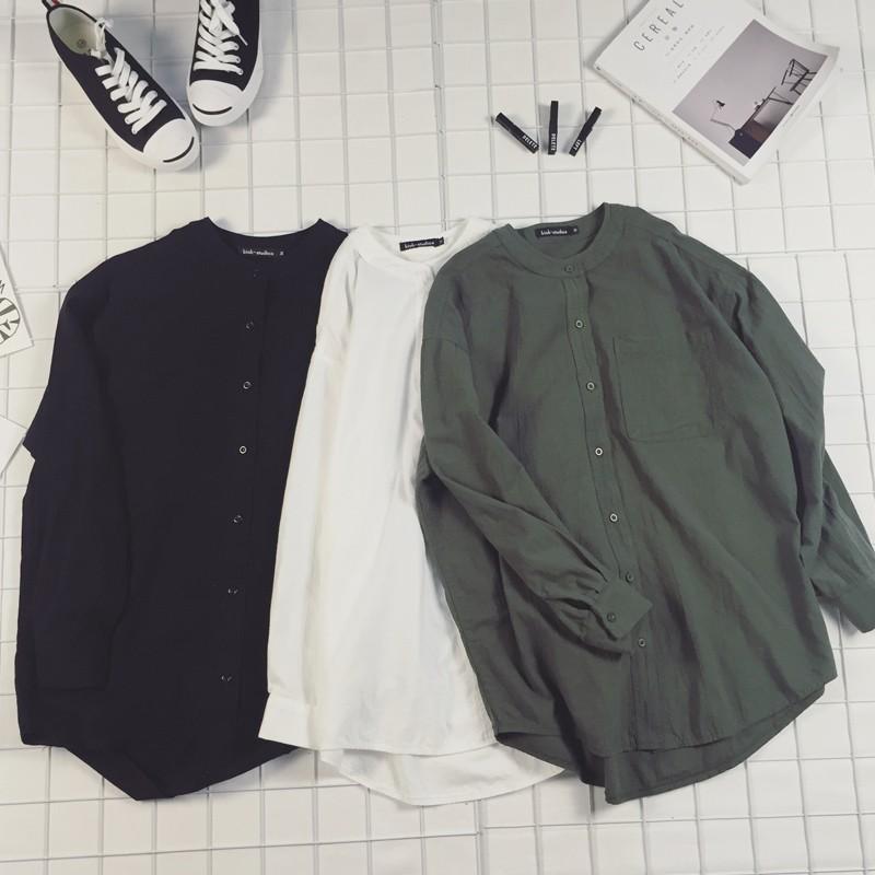 中國風中式立領亞麻襯衫男長袖薄款棉麻襯衣春 復古麻布料上衣