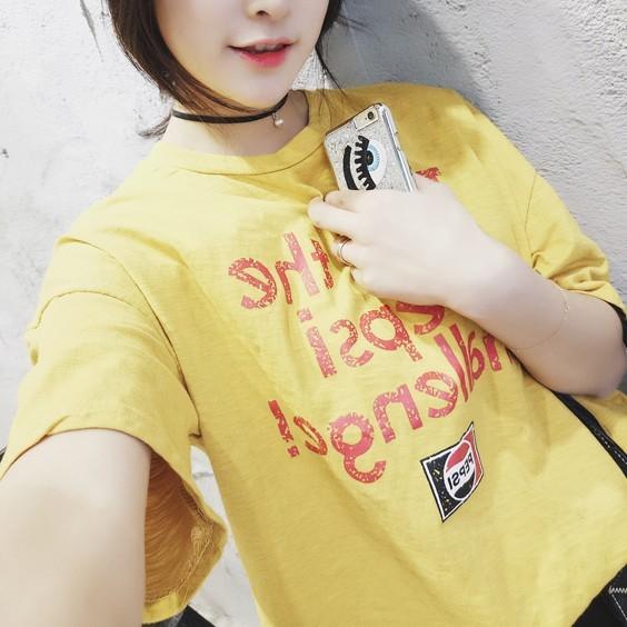 價JDC  女裝 新品印花字母BF 學院風大碼寬松顯瘦套頭短袖T 恤韓妞 女韓國 短袖T