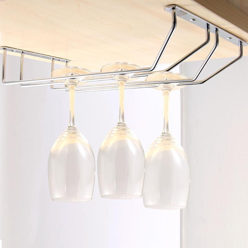 不銹鋼紅酒杯架葡萄酒杯架吊杯架懸掛高腳酒杯架倒掛杯架