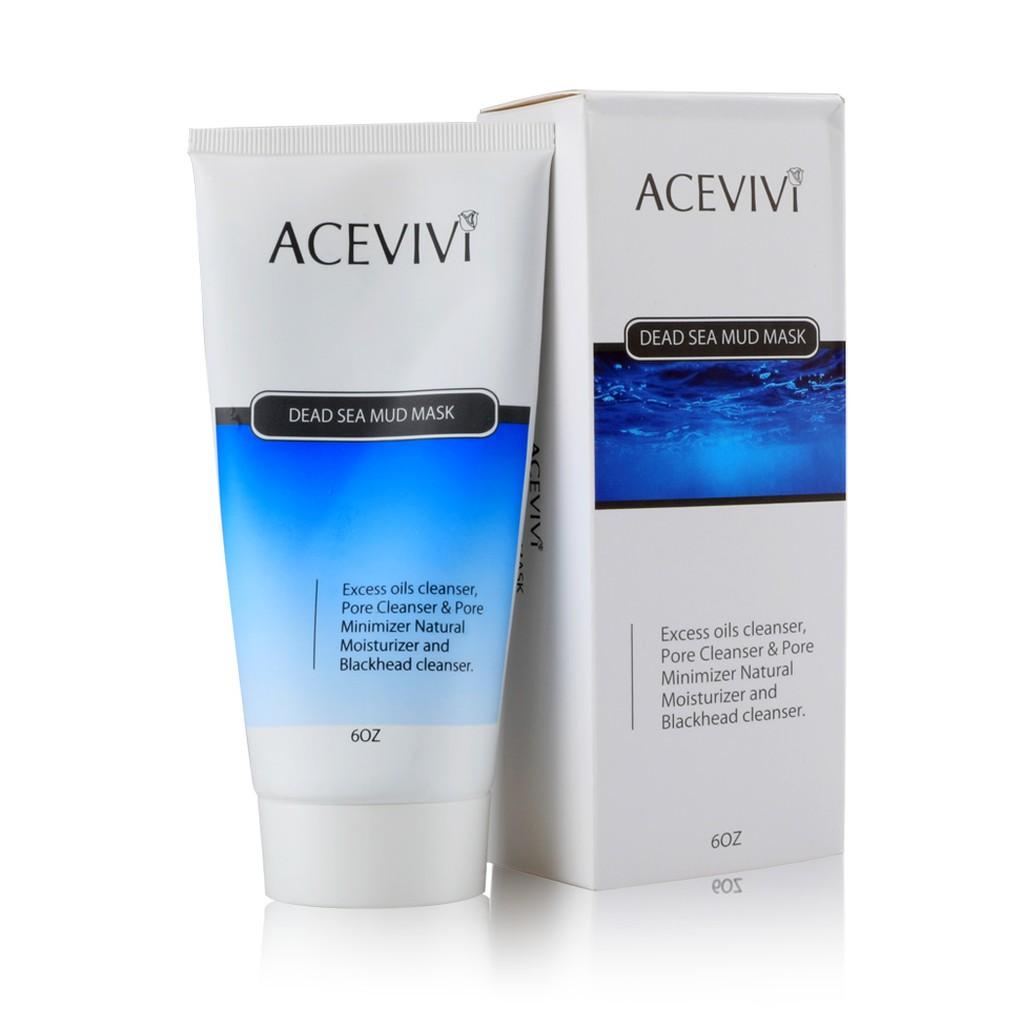 天然礦物質死海泥面膜油脂毛孔潔面乳天然保濕軟管裝ACEVIVI