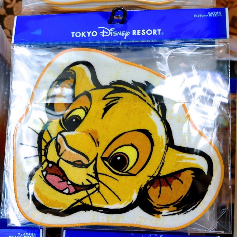 東京迪士尼樂園新品叢林系列獅子王辛巴 毛巾