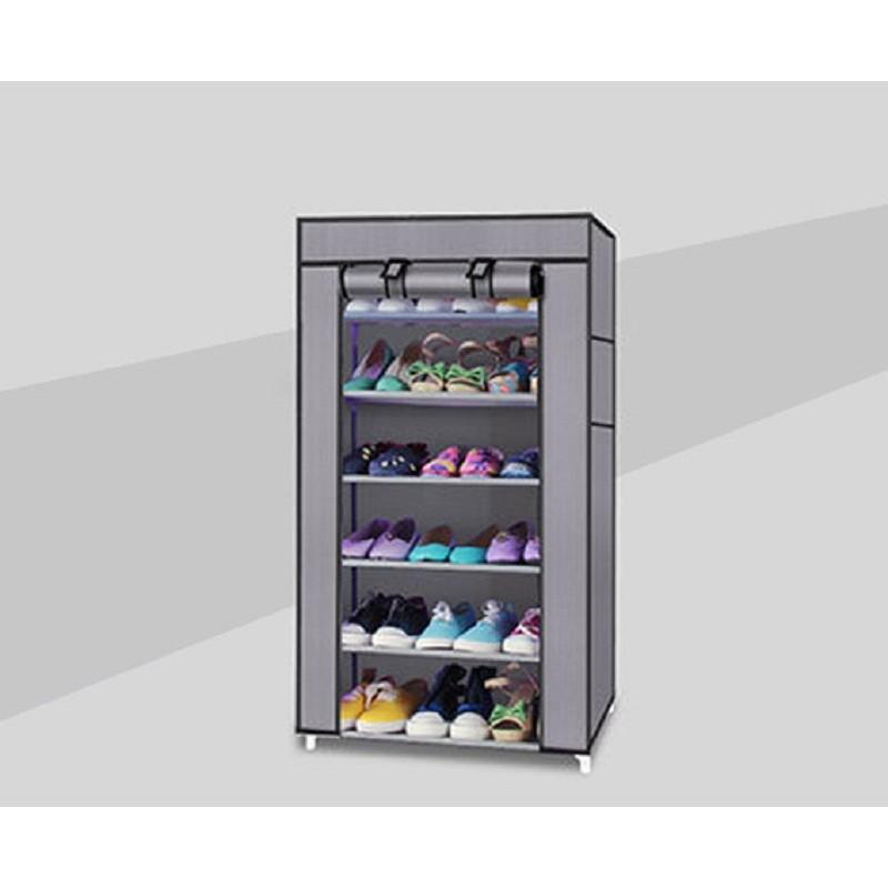 無法超取可貨到 ~單排六層鞋架DIY 防塵鞋櫃~ 鞋架衣櫥衣櫃置物架收納箱