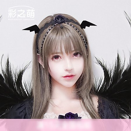 貓熊繽雰超萌小惡魔翅膀吸血鬼蝙蝠髮箍髮夾巫女魔法頭飾萬聖節黑色可愛日系童趣森女系蘿莉塔情人