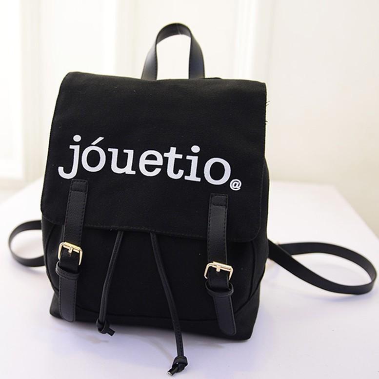 : jouetio 男女雙肩包皮帶磁扣 書包休閒旅遊帆布束口包JOU 後背包外貿原單