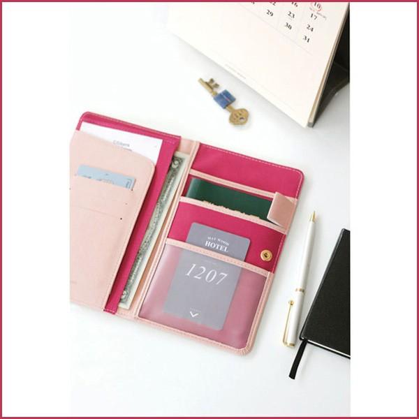 法蒂希護照夾多格層防消磁中長款方便攜帶多 護照包護照套護照收納包護照套護照長夾皮夾 文青自
