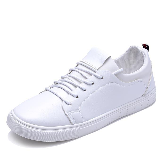 男士小白鞋 鞋 潮鞋板鞋透氣男款學生鞋子百搭男鞋