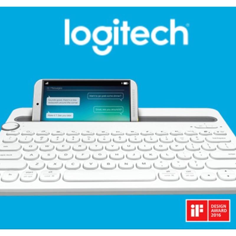 羅技Logitech 藍芽有中文介面鍵盤k480 白色