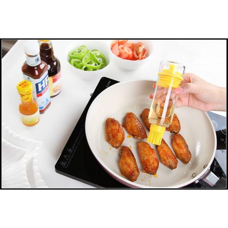 自帶盛油耐高溫矽膠油刷油瓶燒烤刷烘培刷子套裝◆◆大祺 ◆◆