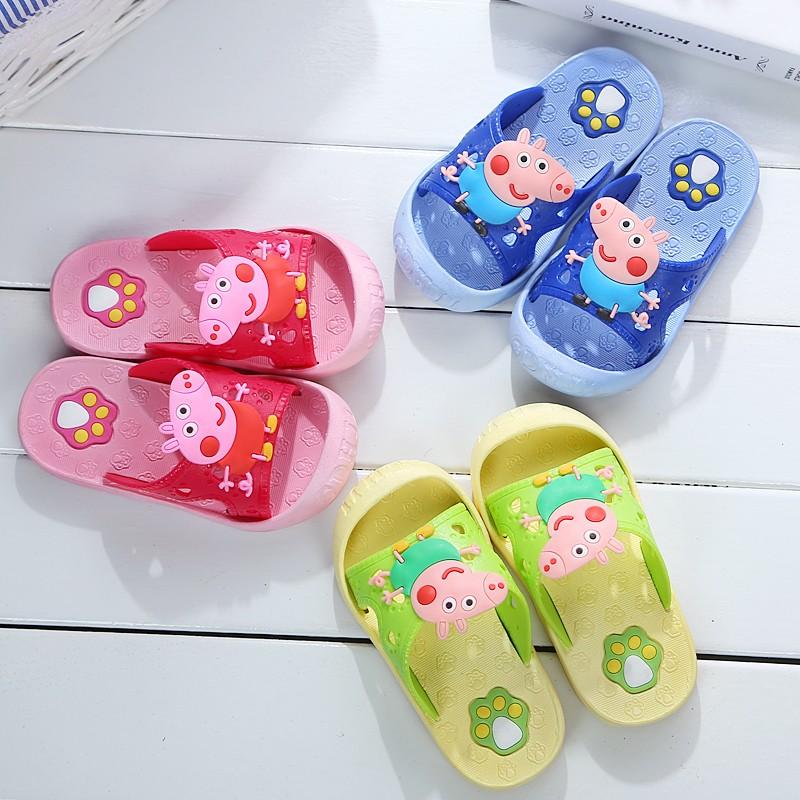 2 款共5 色寶寶兒童嬰兒男童女童寶寶可愛卡通 居家涼鞋拖鞋膠鞋