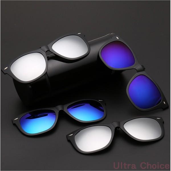 眼鏡族外出 前掛夾式UV400 偏光太陽眼鏡潮框復古墨鏡男女 眼鏡片夾片眼鏡太陽眼鏡墨鏡