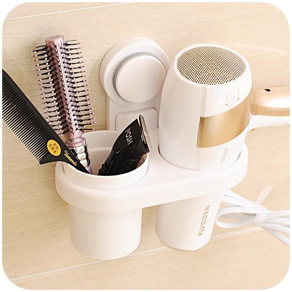 強力吸盤(吹風機髮梳)收納架~加碼送~泰國white 蘆薈毛孔粉刺凝膠1 瓶