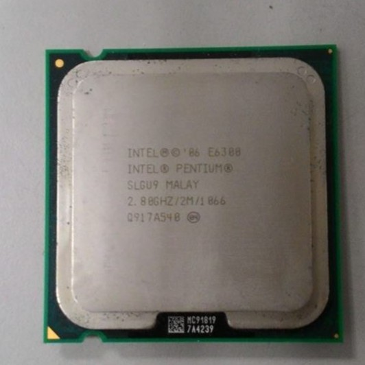 ~ CP ~E6300 中央處理器775 腳位雙核心Intel AMD Athon