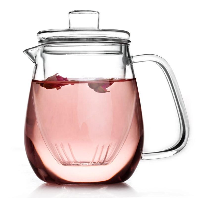 花茶壺過濾內膽玻璃茶壺耐高溫三件式茶具500ml