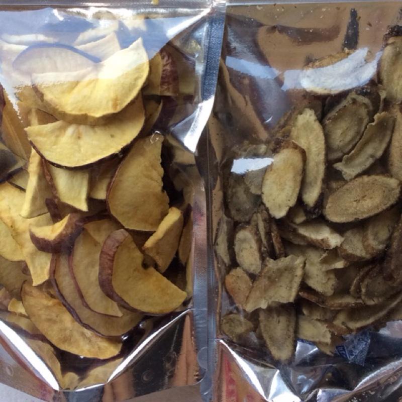 天然果乾(蘋果、鳳梨、洛神花、牛蒡、敏豆、菠蘿蜜、芋頭、薯條、秋葵、香菇)