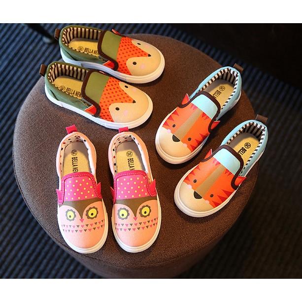 好2016 春秋 兒童帆布鞋男女童鞋子 單鞋中小童板鞋卡通動物潮