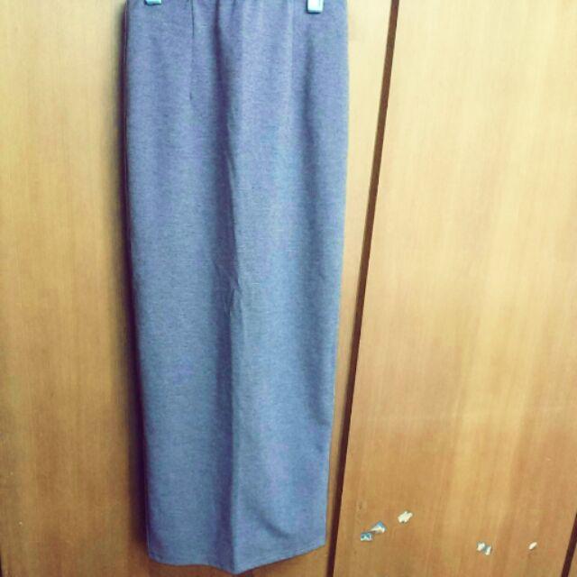後開叉窄裙