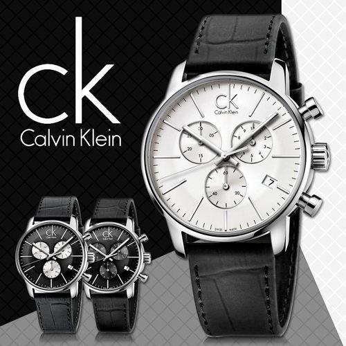 ~Ivy 貿易~ CK 手錶男錶CITY 系列 多 三眼計時夜光日曆石英男士腕錶K2G27
